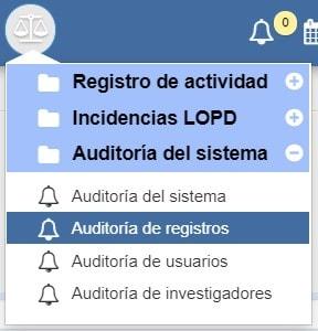 Auditoría de registros Archivos Albalá