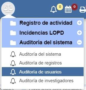 Auditoría de usuarios Archivos Albalá