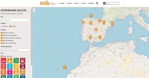 Mapa interactivo de ganadores y finalistas del Sello CCB