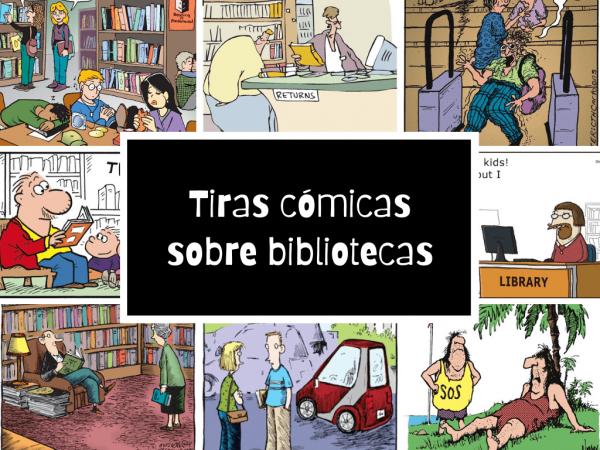 Tiras cómicas sobre bibliotecas