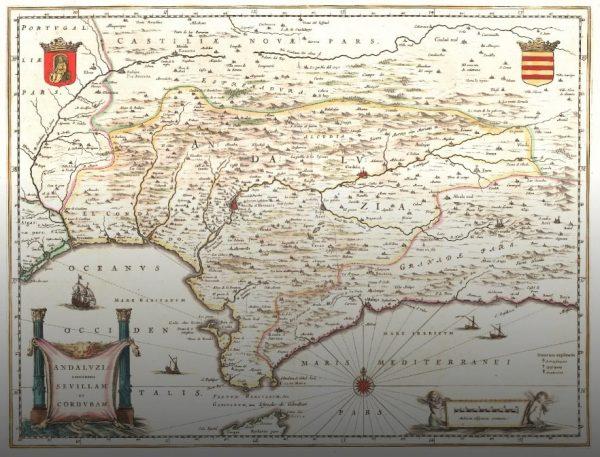 Archivos de Andalucía Mapa de la región andaluza del siglo XVII