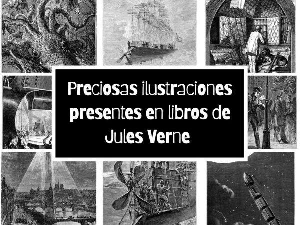 Preciosas ilustraciones presentes en libros de Jules Verne