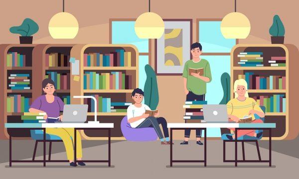 Las bibliotecas forman parte de la vida de las personas