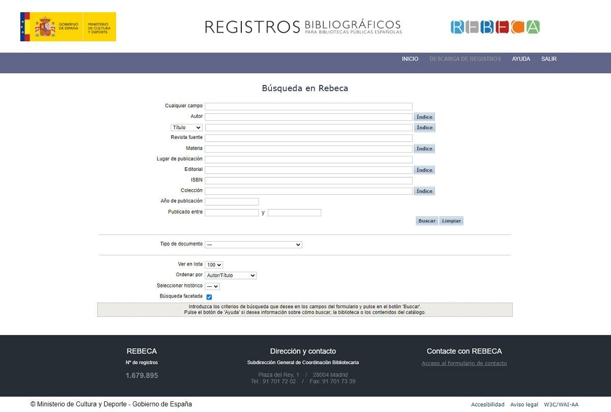 Búsqueda en Rebeca catalogación automatizada