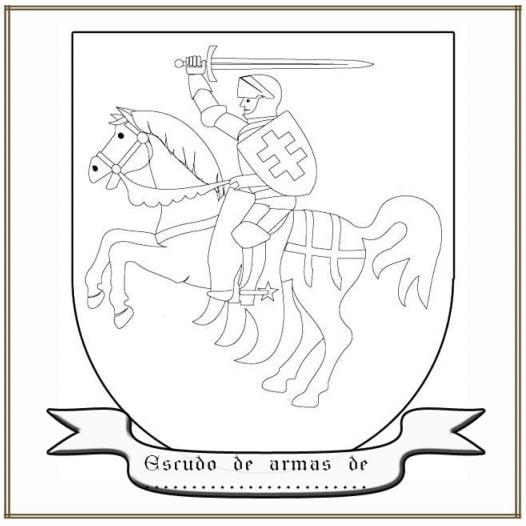 Colorea tu escudo de armas