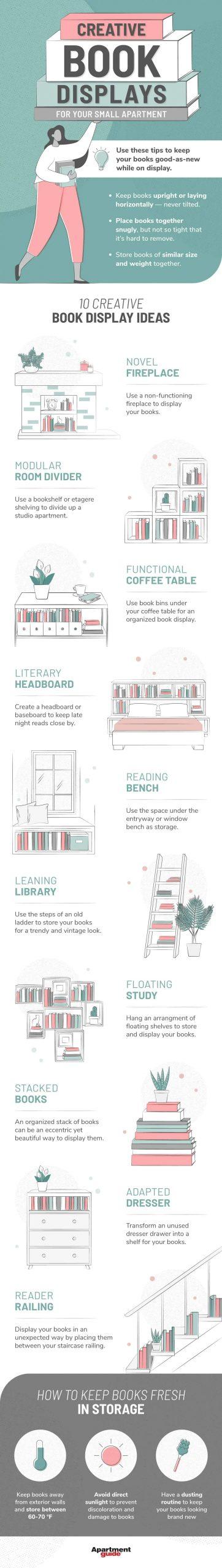 Ideas creativas para exhibir tus libros en casa