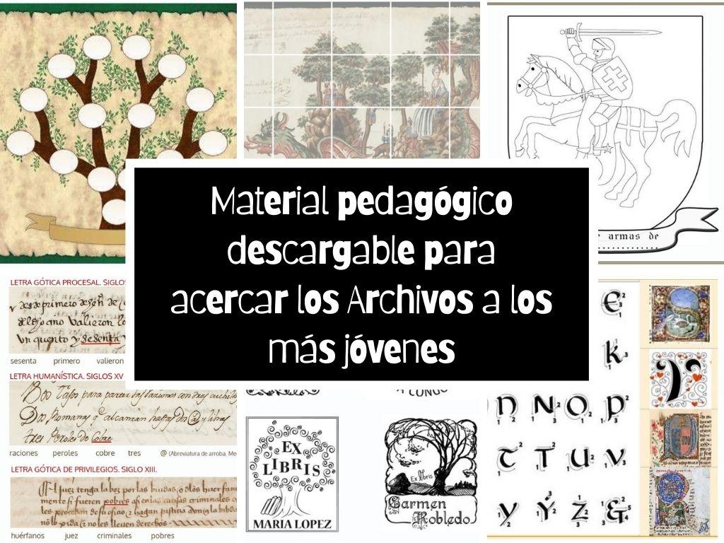 Material pedagógico descargable para acercar los Archivos a los más jóvenes