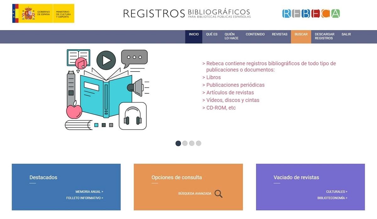 Registros bibliográficos para bibliotecas públicas españolas Rebeca AbsysNet