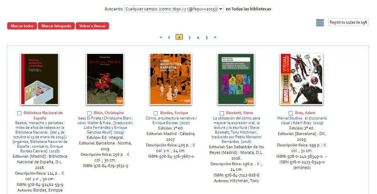 Ejemplo 2 consultas bibliográficas a AbsysNet través de la URL del opac