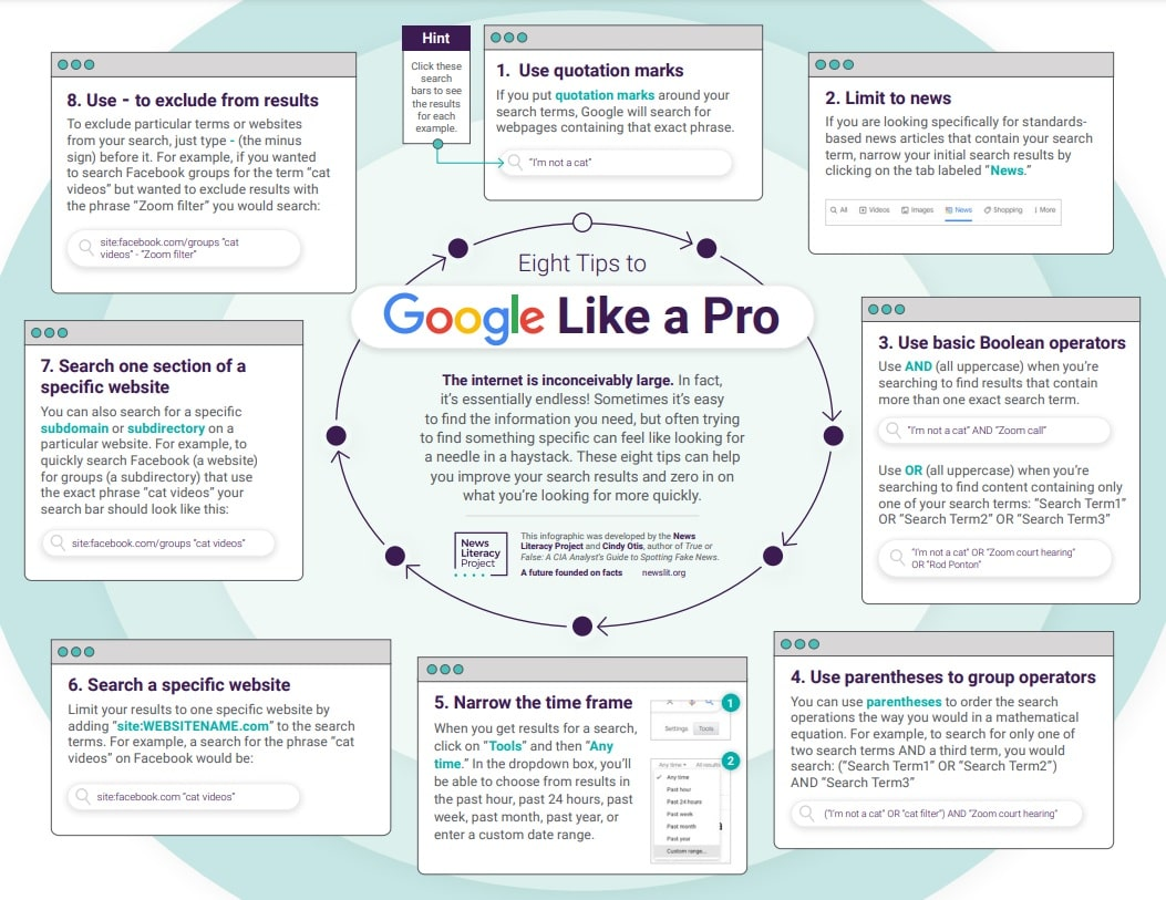 Eight tips to Google like a pro