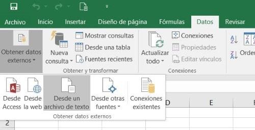 Abrir archivo de texto en Excel