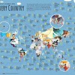 Mapamundi con los libros infantiles y juveniles más populares en cada país