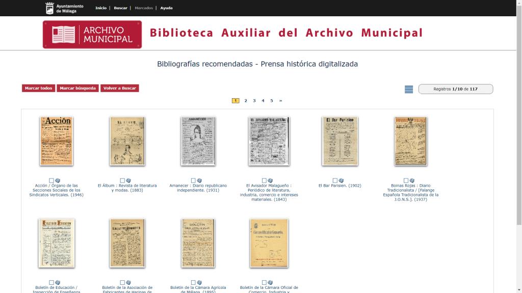Accede a la prensa histórica malagueña a través de la Biblioteca auxiliar del Archivo de Málaga