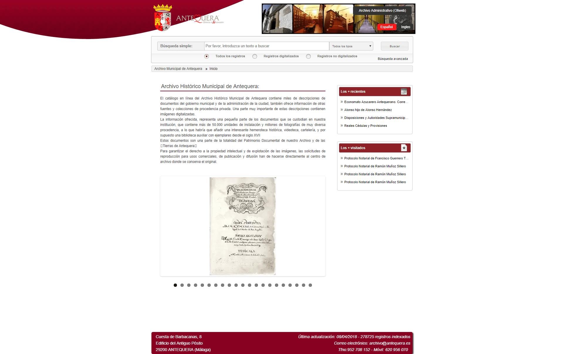 Archivo Histórico Municipal de Antequera
