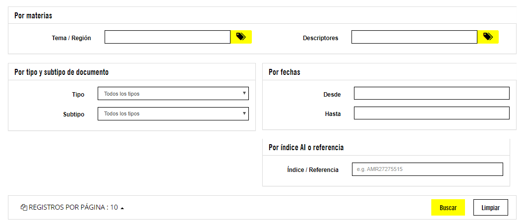 Búsquedas Centro de Documentación de Amnistía Internacional España
