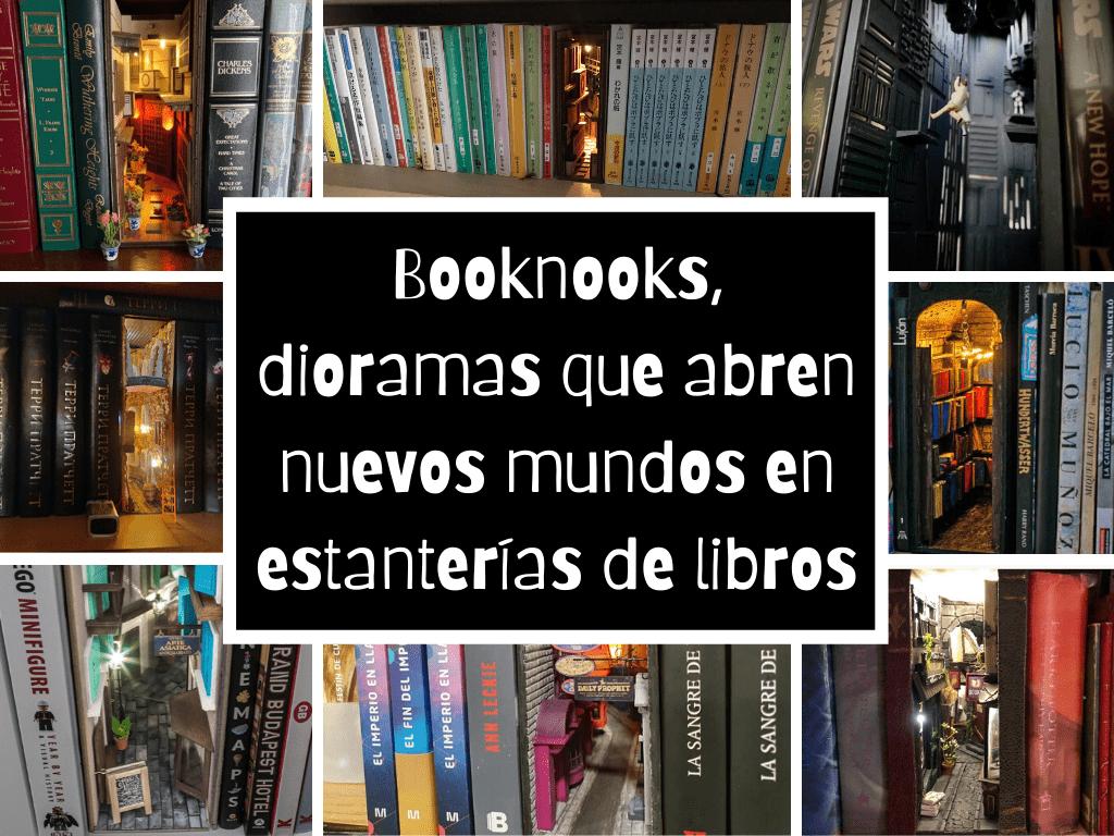 Booknooks, dioramas que abren nuevos mundos en estanterías de libros