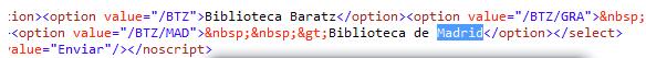 Código de subcatálogo