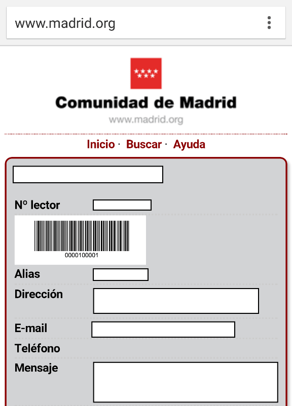 Carné móvil de las bibliotecas públicas de Madrid