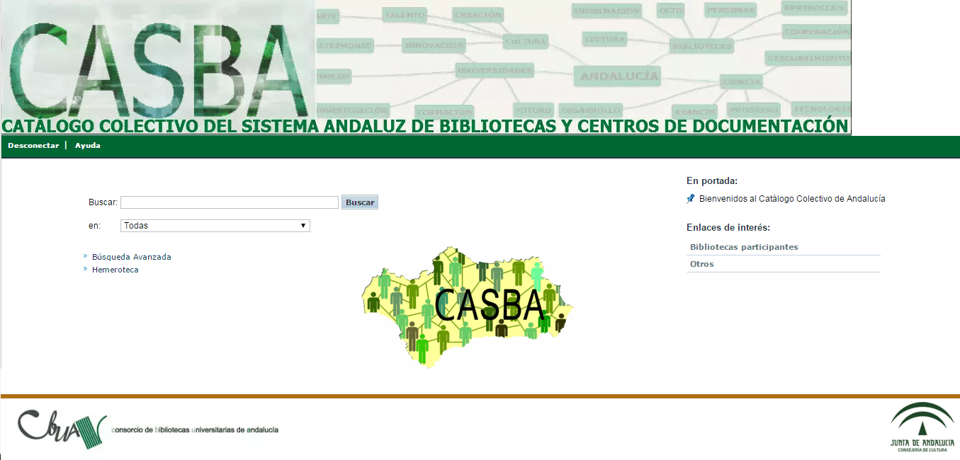 Catálogo Colectivo del Sistema Andaluz de Bibliotecas y Centros de Documentación - CASBA