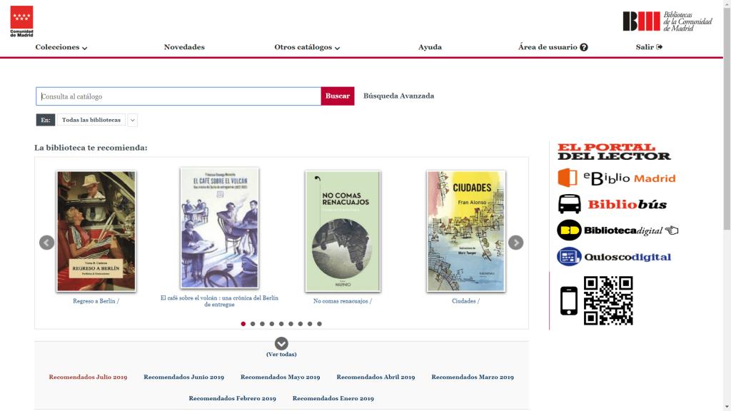 Catálogo Red de Bibliotecas Públicas de la Comunidad de Madrid