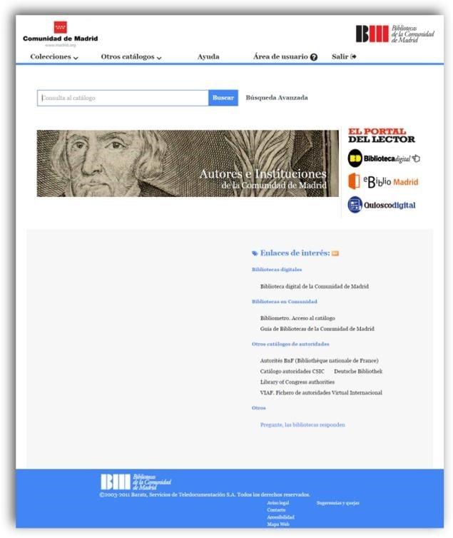 Catálogo autoridades Comunidad de Madrid