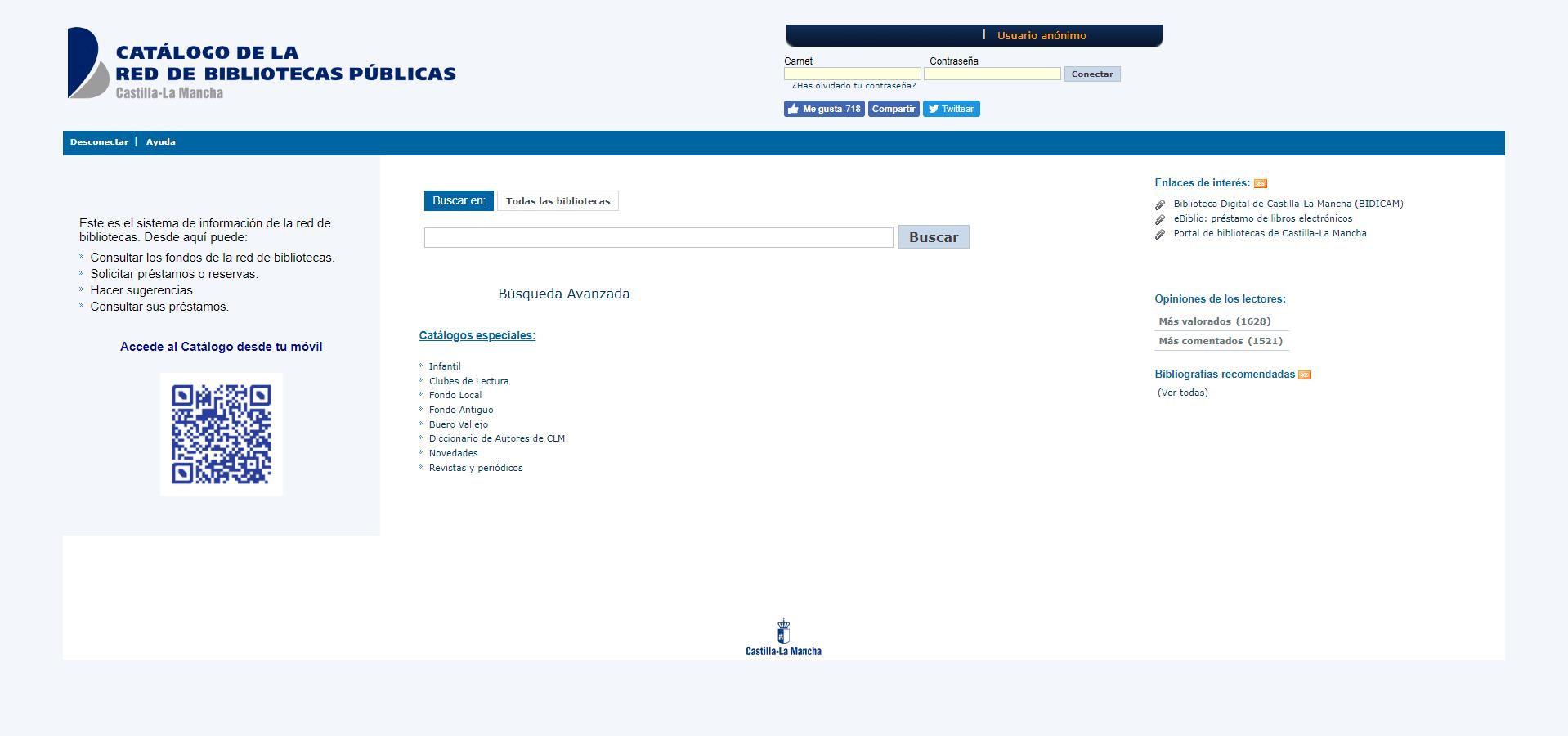 Catálogo de la Red de Bibliotecas Públicas de Castilla - La Mancha