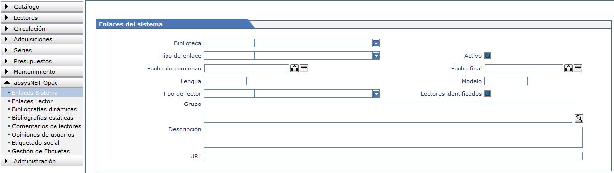 Cómo se crean los enlaces del sistema AbsysNet