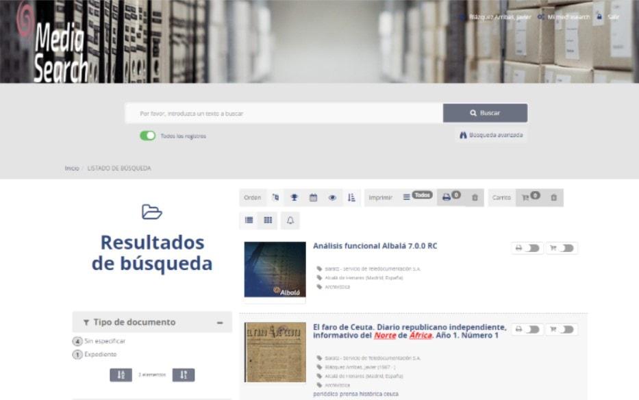 Creación de alertas en búsquedas de MediaSearch