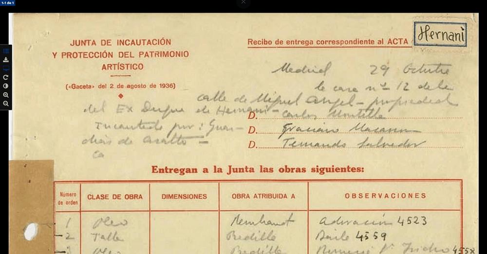 Detalle de documento digital del Archivo online del Instituto del Patrimonio Cultural de España