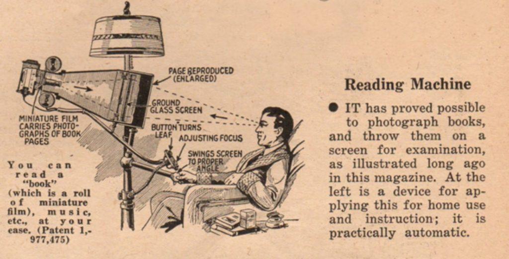 El lector electrónico del futuro de 1935
