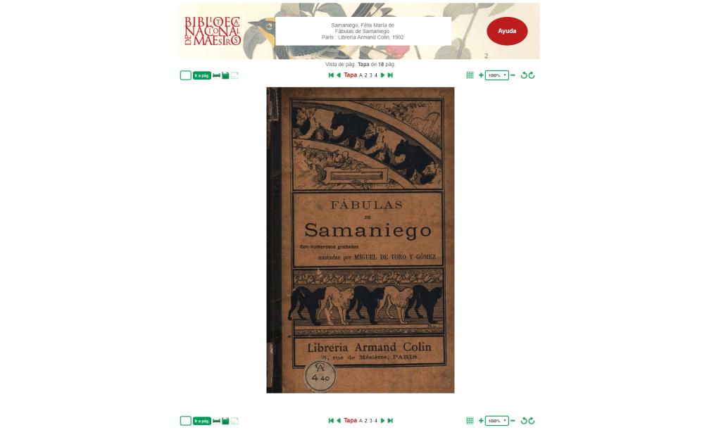 Fábulas de Samaniego - Biblioteca Nacional de Maestros