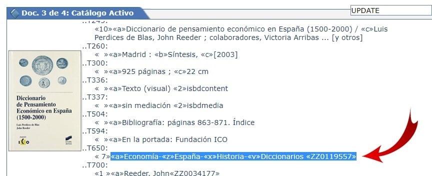 Gestión interna autoridad completa en registro bibliográfico AbsysNet