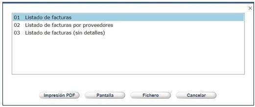 Listados de facturación en AbsysNet 2