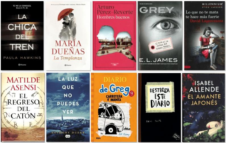 Los 10 libros más vendidos en España en 2015