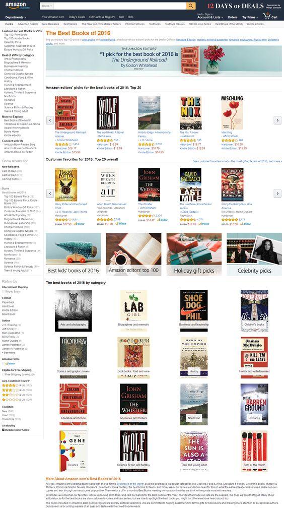 Los mejores libros de 2016 según Amazon