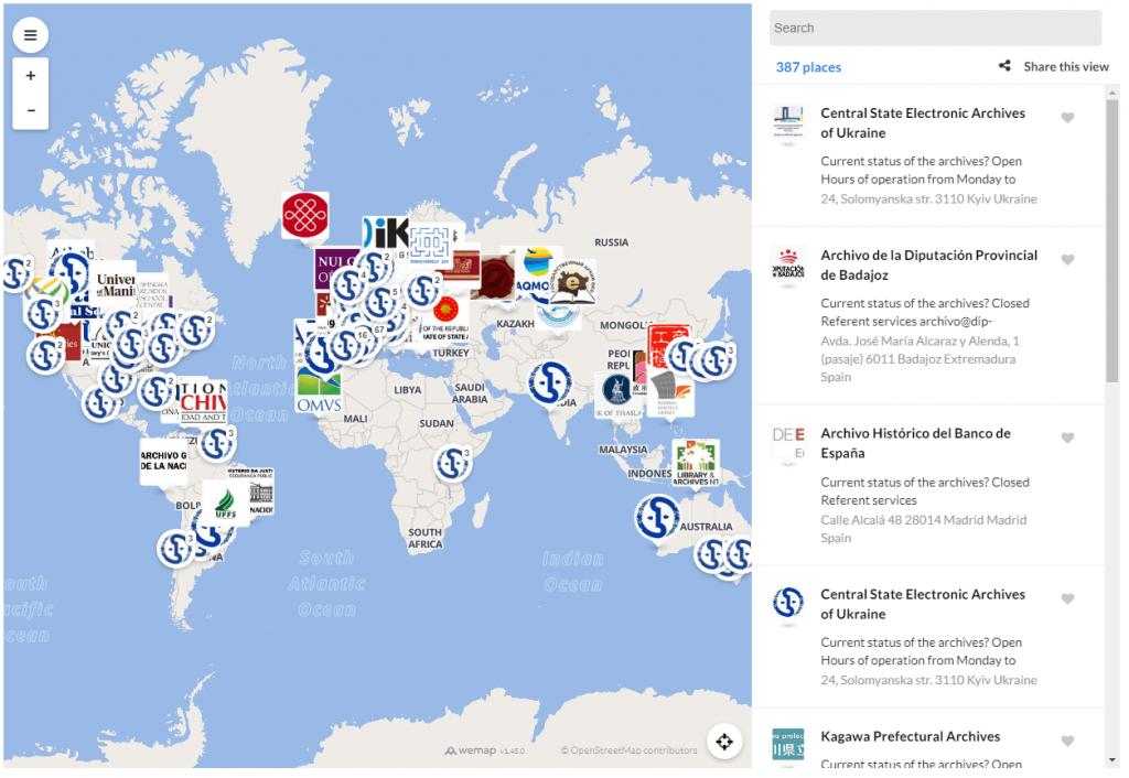 Mapa digital del ICA geolocalizando Archivos