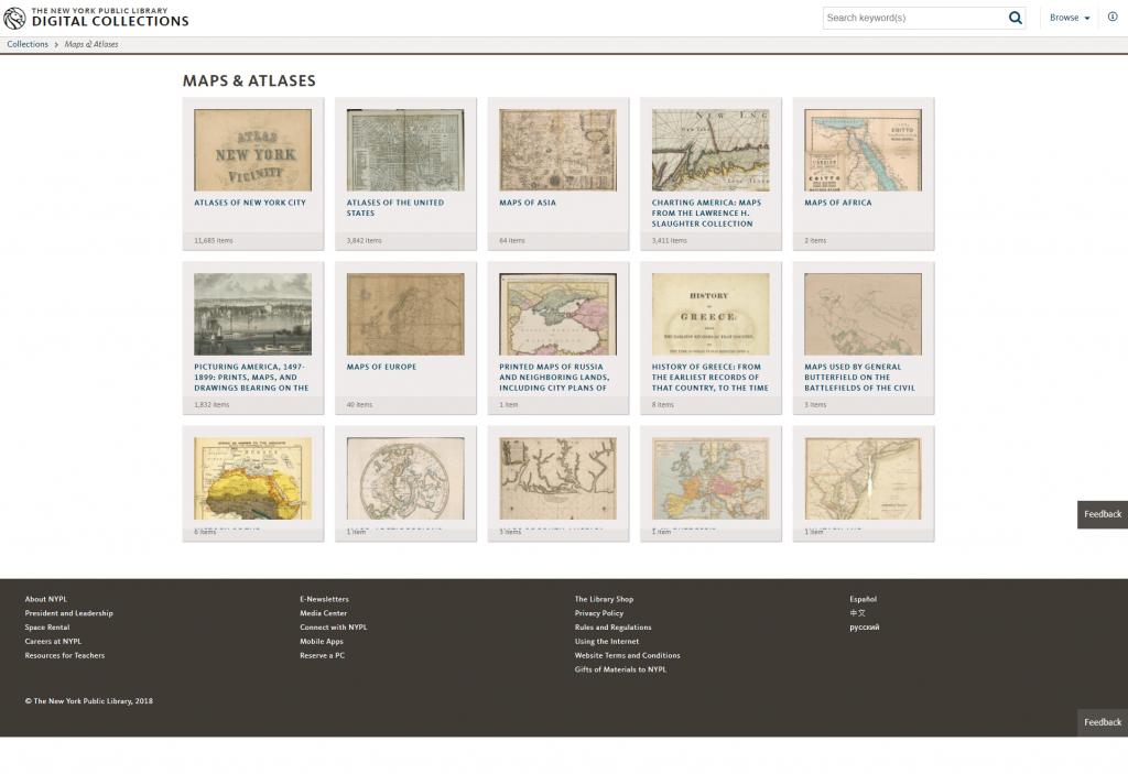 Mapas y Atlas de la Biblioteca Pública de Nueva York