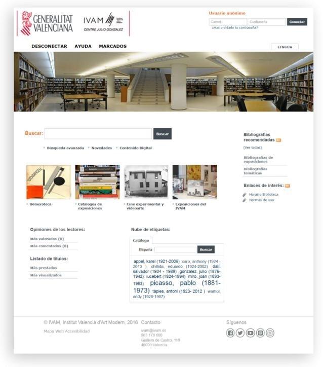 Opac biblioteca del IVAM