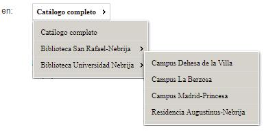 Opac de la Biblioteca de la Universidad de Nebrija