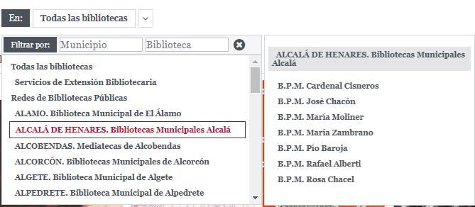 Opac de las Bibliotecas de la Comunidad de Madrid