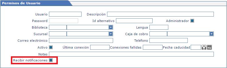 Permisos de usuarios - Recibir notificaciones AbsysNet