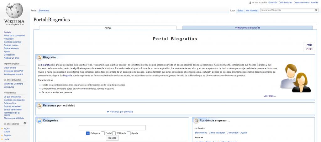 Portal Biografías - Wikipedia