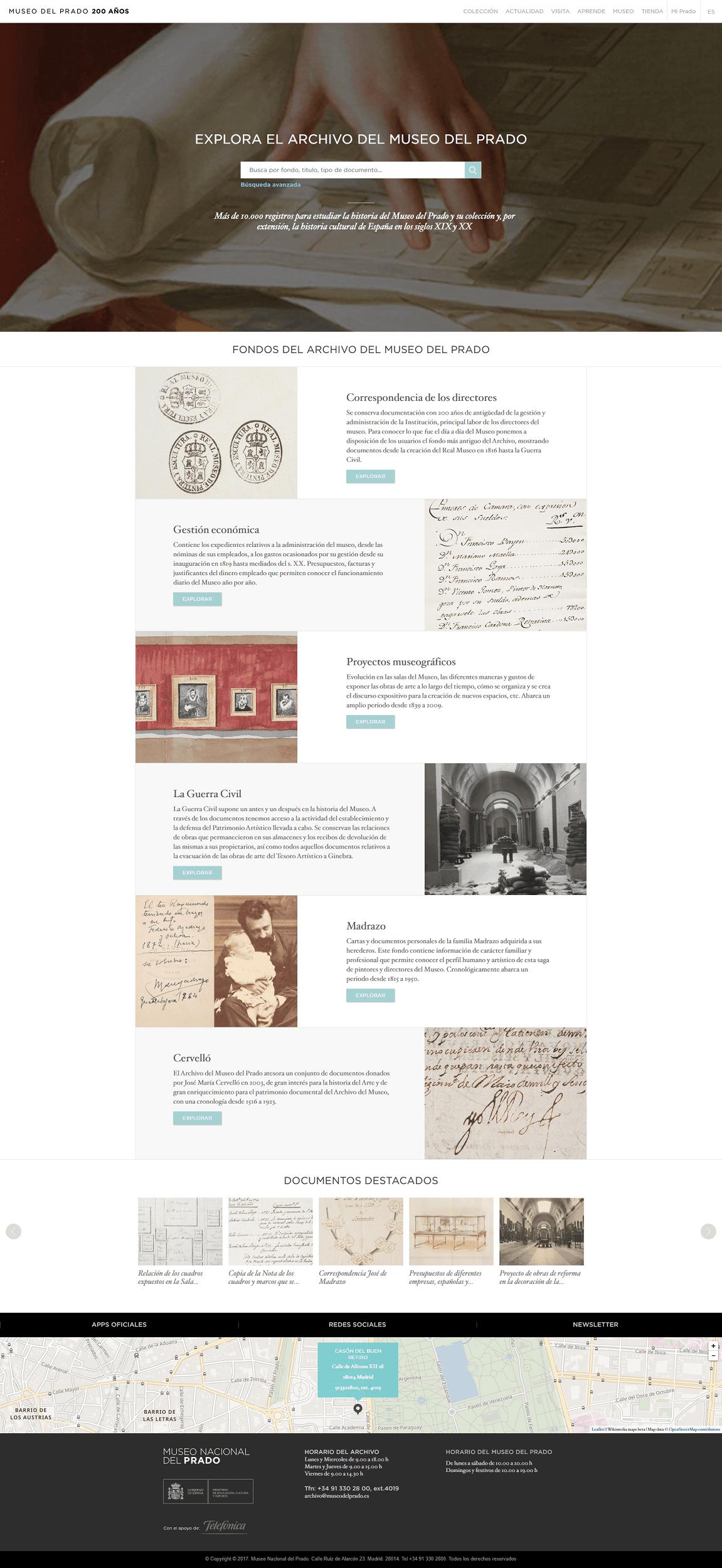Sitio web Archivo Digital Museo del Prado
