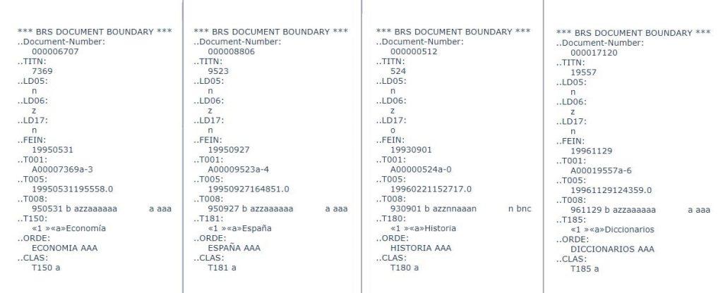 Subdivisiones encabezamiento registro bibliográfico AbsysNet
