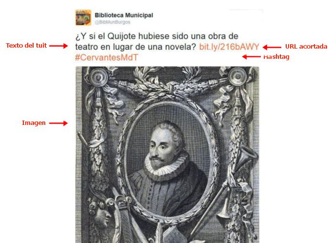Tuit de la Biblioteca Municipal de Burgos en capítulo del Ministerio del Tiempo