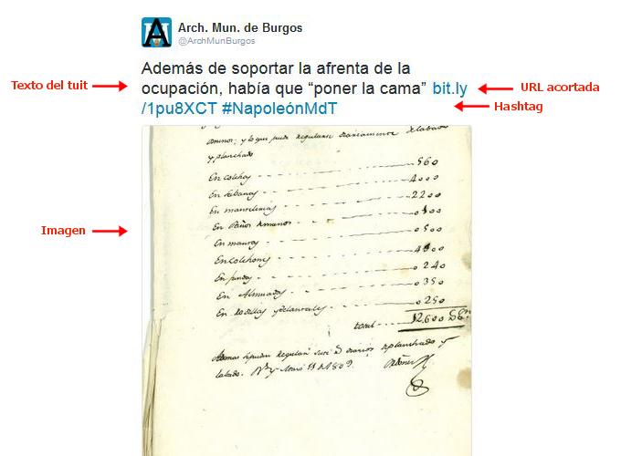 Tuit del Archivo Municipal de Burgos en capítulo del Ministerio del Tiempo