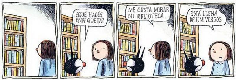 Una biblioteca llena de universos