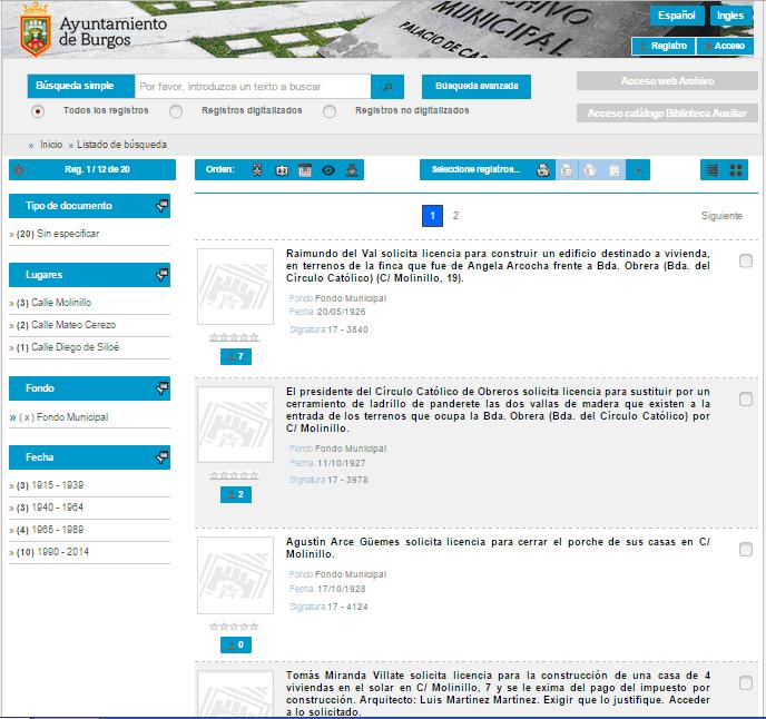 Visor cartográfico del Ayuntamiento de Burgos - MediaSearch