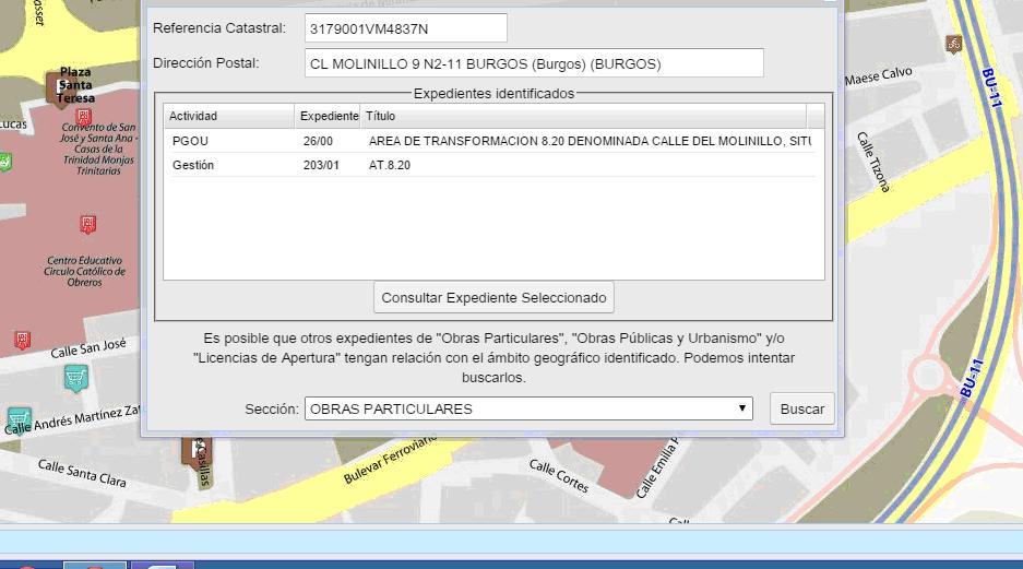 Visor cartográfico del Ayuntamiento de Burgos - Secciones