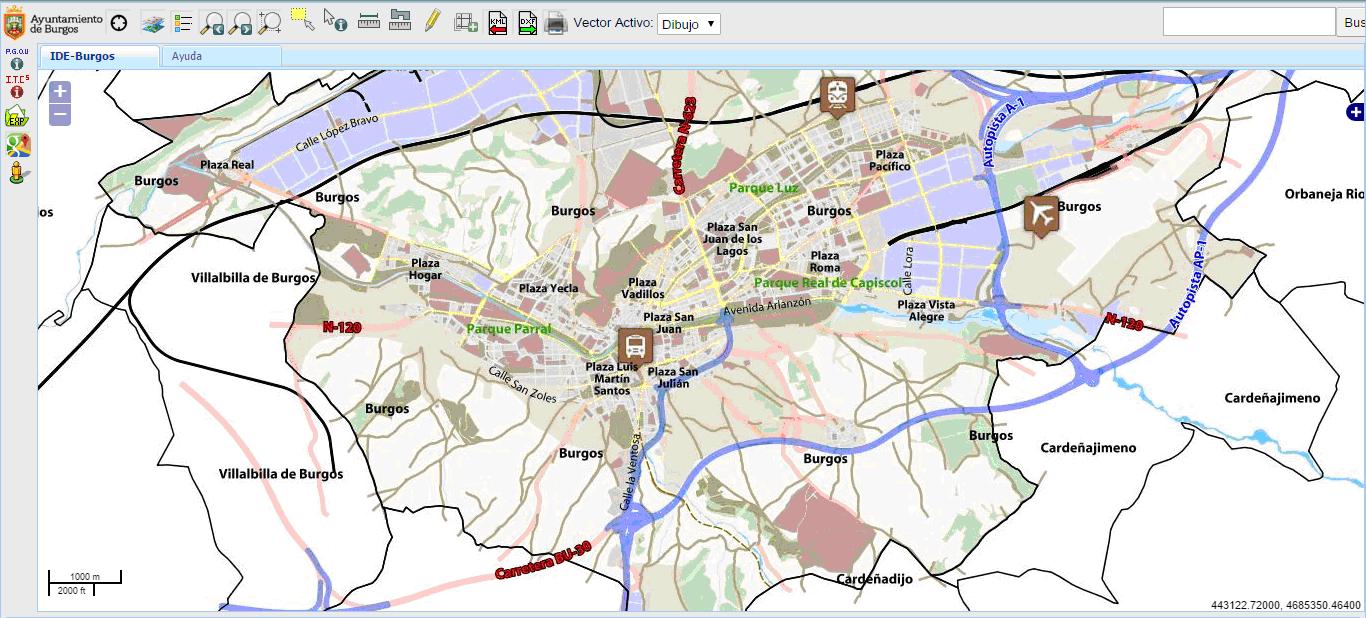 Visor cartográfico del Ayuntamiento de Burgos
